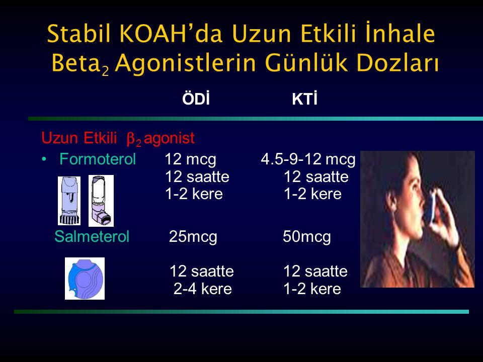 Stabil KOAH'da Uzun Etkili İnhale Beta2 Agonistlerin Günlük Dozları