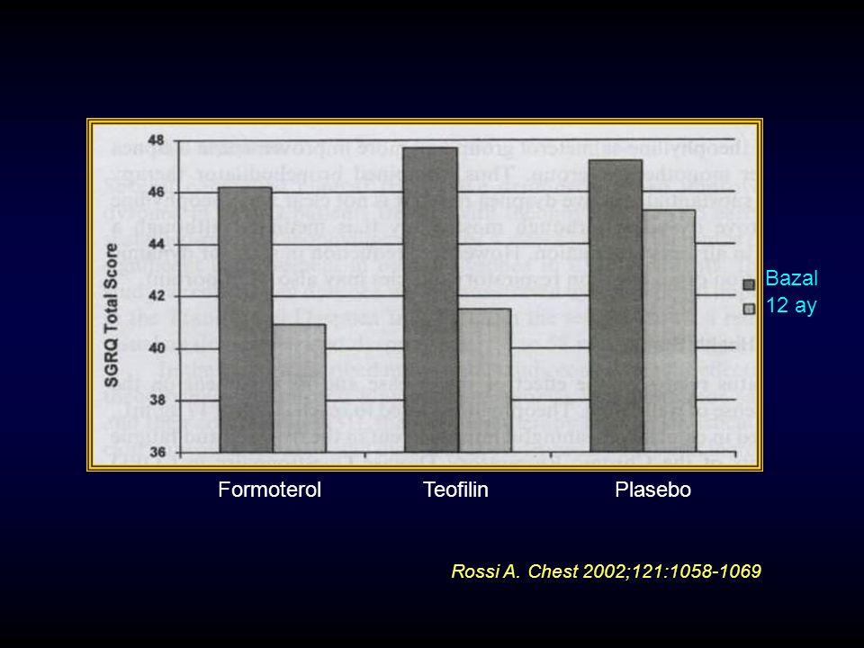 Bazal 12 ay Formoterol Teofilin Plasebo