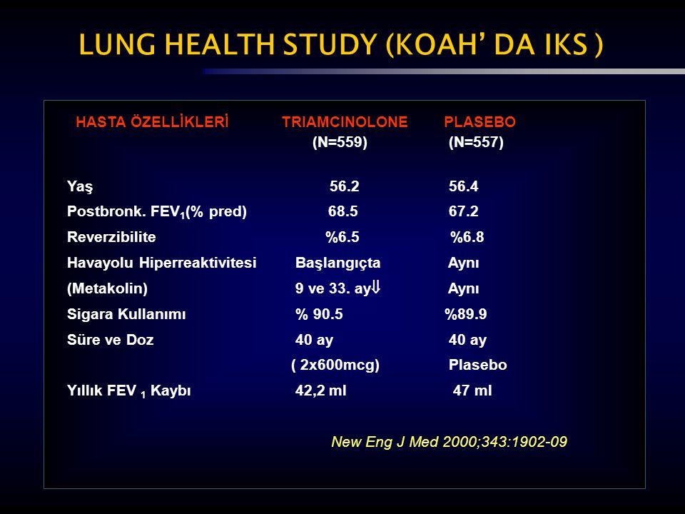 LUNG HEALTH STUDY (KOAH' DA IKS )