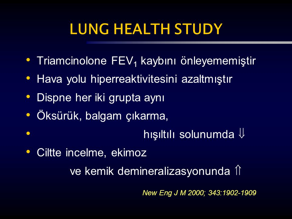 LUNG HEALTH STUDY New Eng J M 2000; 343:1902-1909