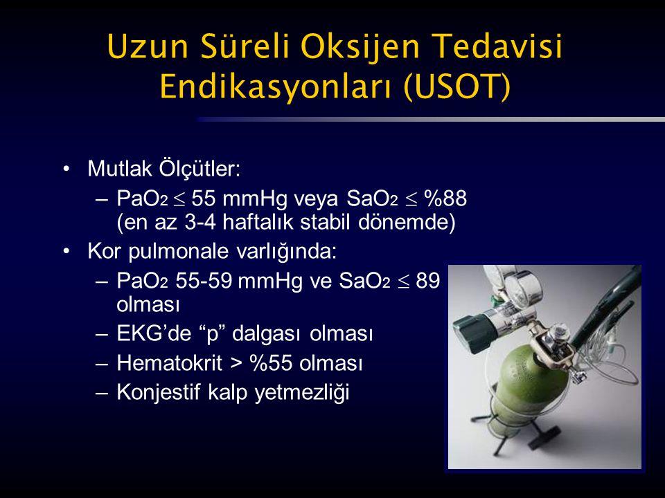 Uzun Süreli Oksijen Tedavisi Endikasyonları (USOT)