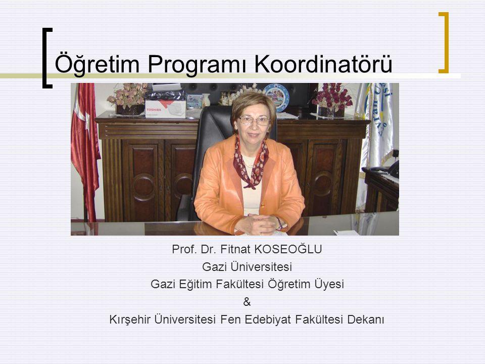Öğretim Programı Koordinatörü