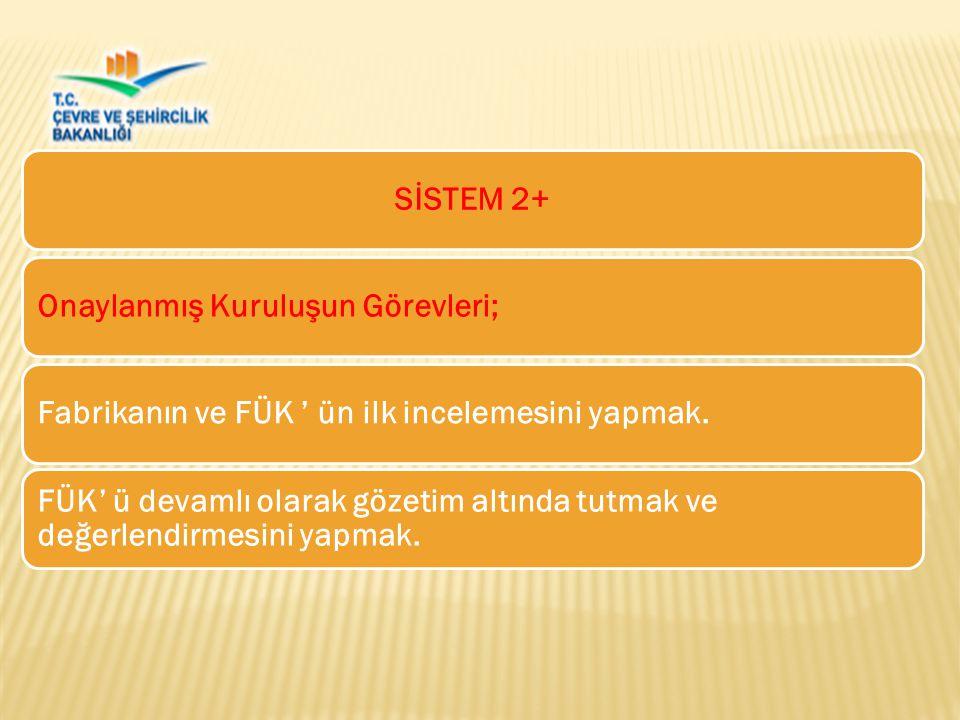 SİSTEM 2+ Onaylanmış Kuruluşun Görevleri; Fabrikanın ve FÜK ' ün ilk incelemesini yapmak.