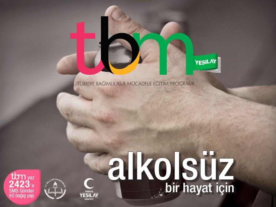 Bu sunuda TBM için hazırlanmış olan «Alkolsüz Bir Hayat İçin» adlı (Metin: Uğur Evcin, 2014, İstanbul: Yeşilay Yayını) broşürden yararlanılmıştır.