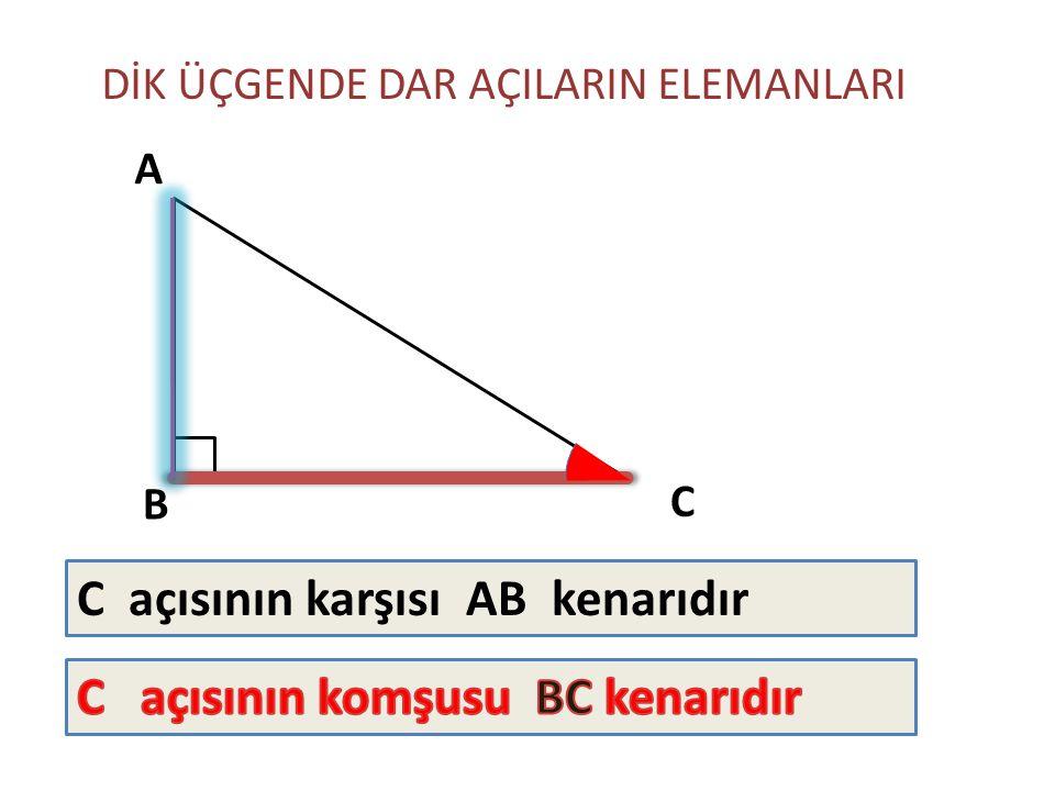 C açısının karşısı AB kenarıdır