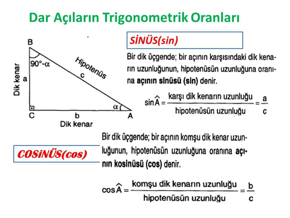Dar Açıların Trigonometrik Oranları