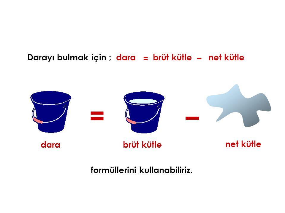 formüllerini kullanabiliriz.