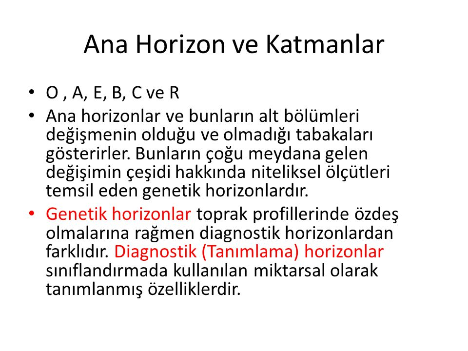 Ana Horizon ve Katmanlar