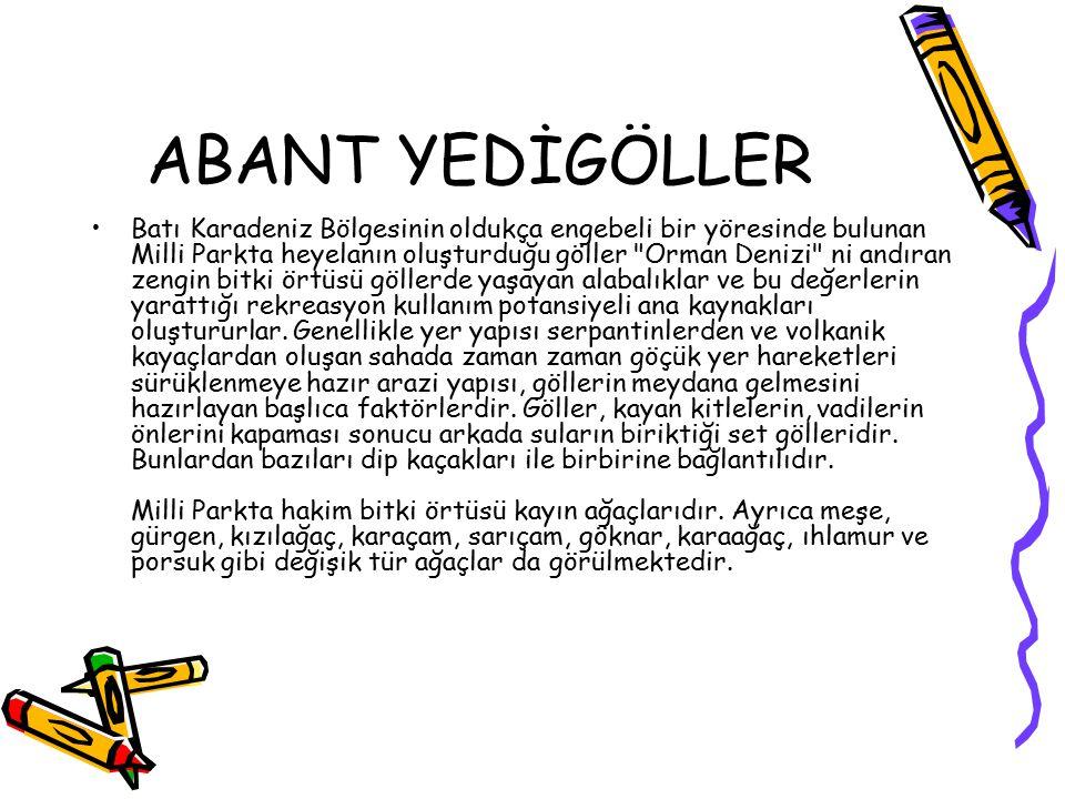 ABANT YEDİGÖLLER