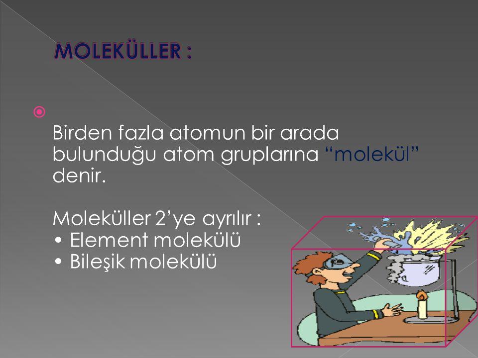 MOLEKÜLLER :
