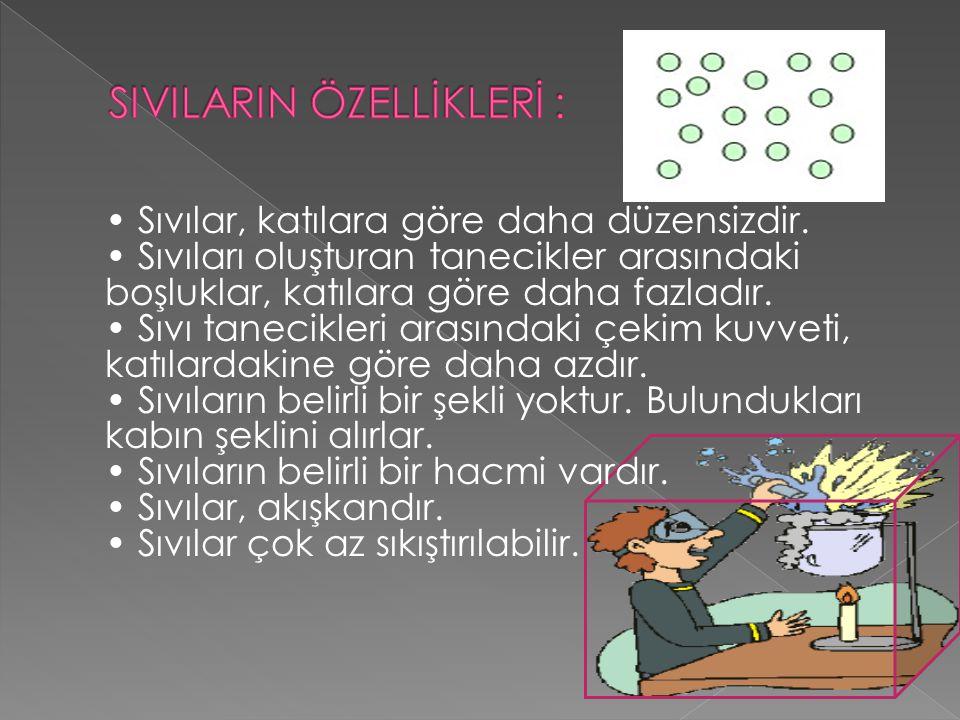 SIVILARIN ÖZELLİKLERİ :
