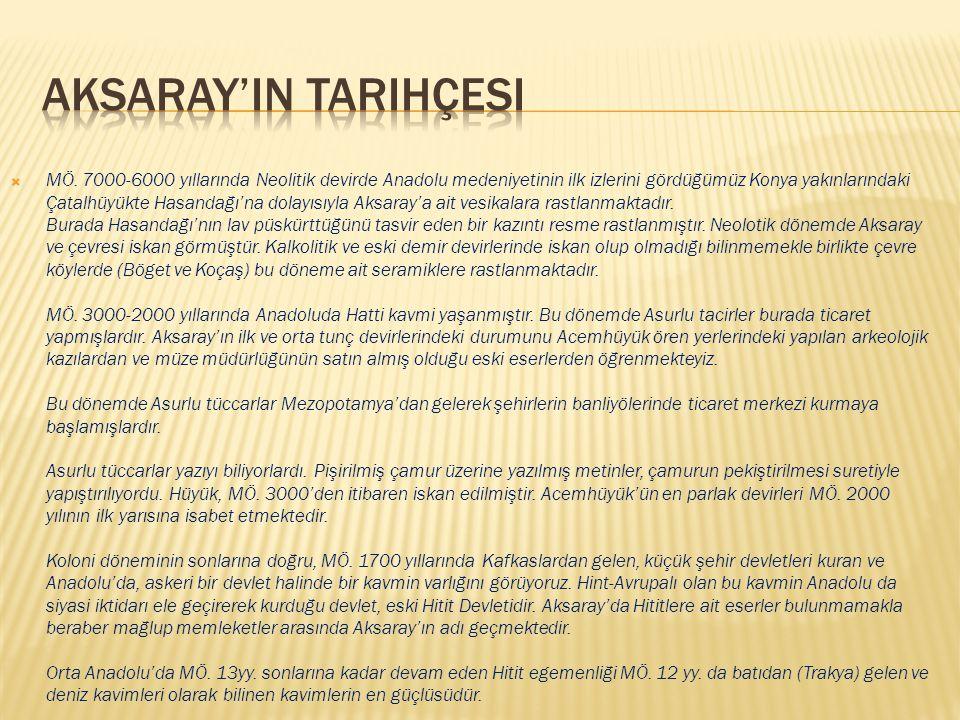Aksaray'in tarihçesi