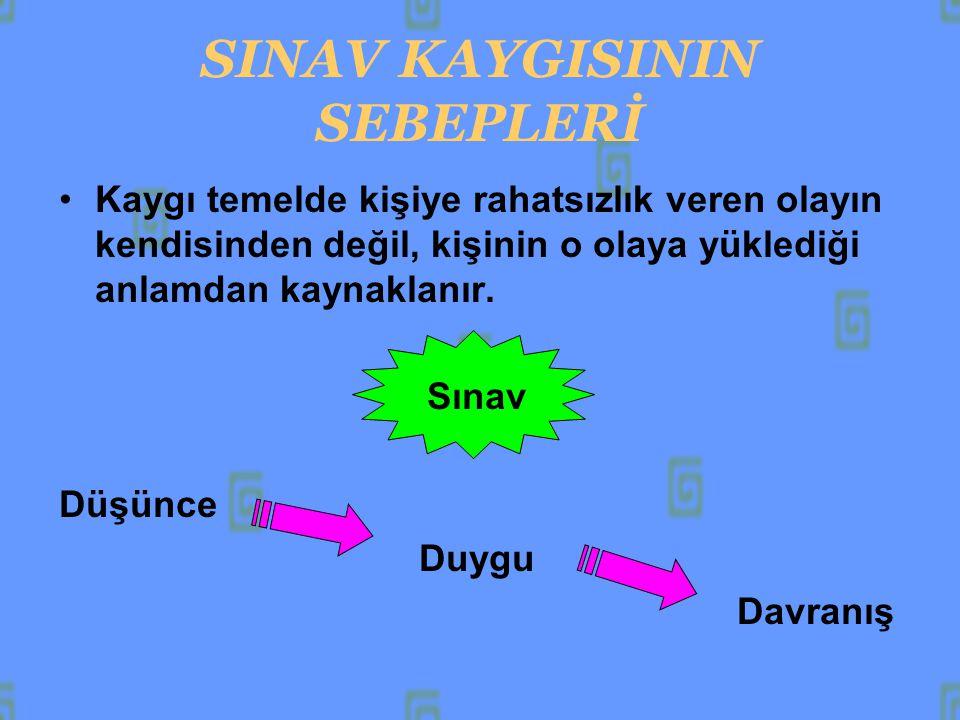 SINAV KAYGISININ SEBEPLERİ