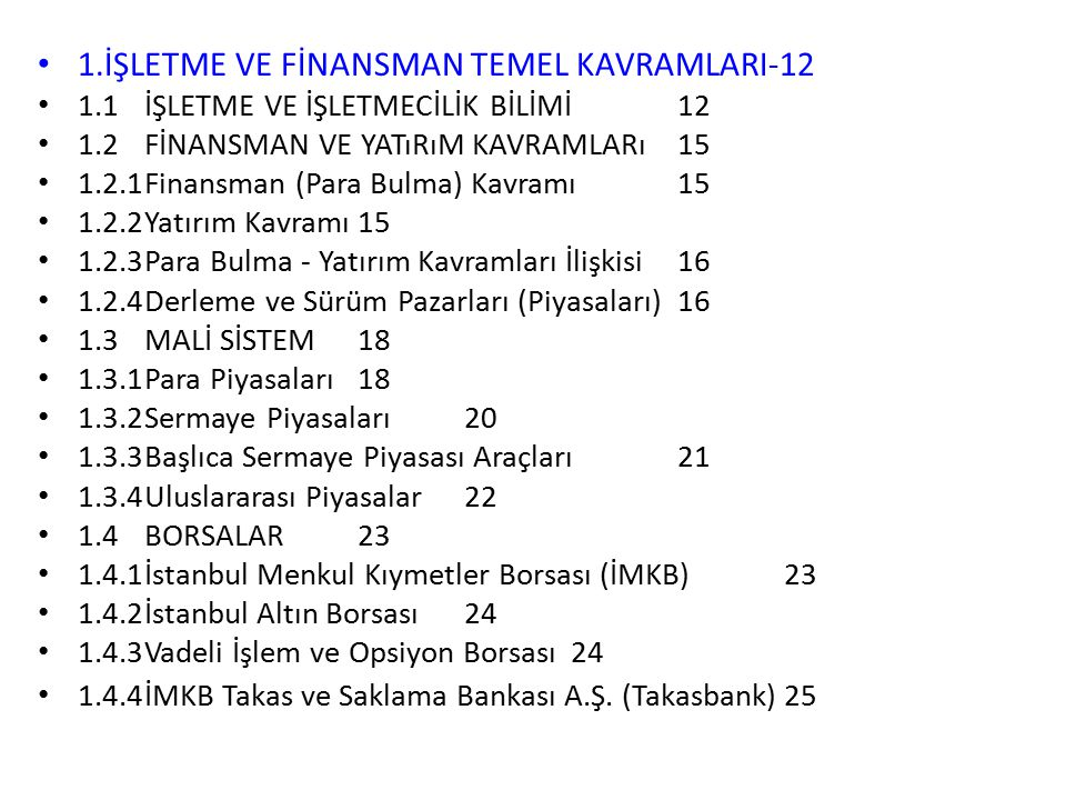 1.İŞLETME VE FİNANSMAN TEMEL KAVRAMLARI-12