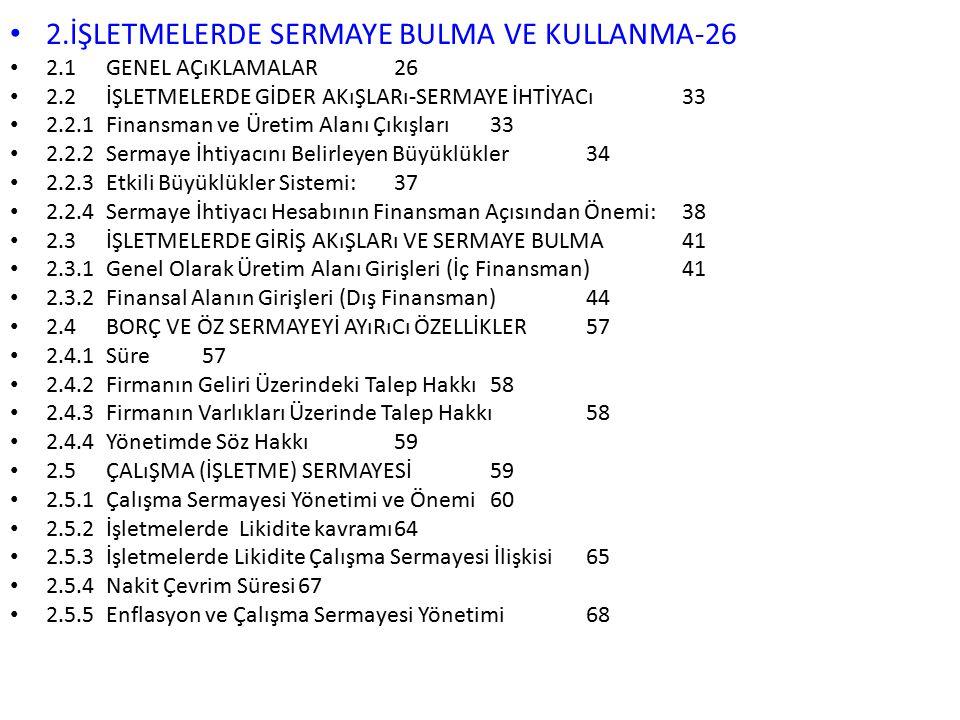 2.İŞLETMELERDE SERMAYE BULMA VE KULLANMA-26