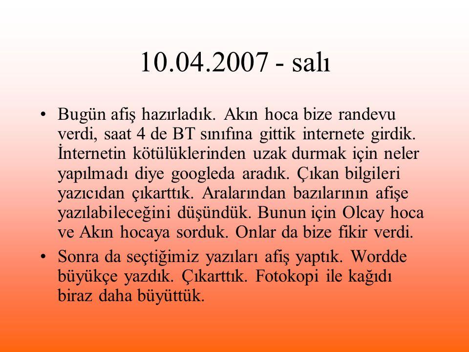 10.04.2007 - salı