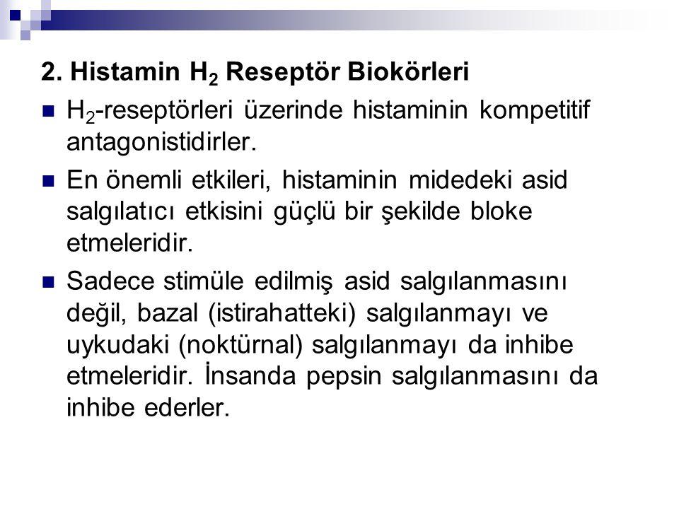 2. Histamin H2 Reseptör Biokörleri
