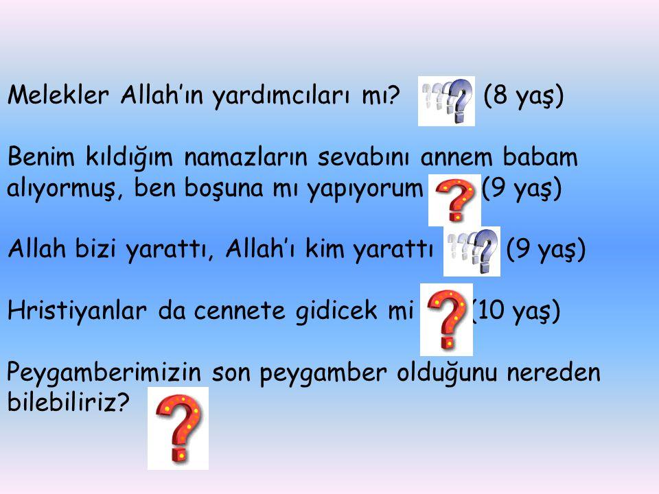 Melekler Allah'ın yardımcıları mı (8 yaş)