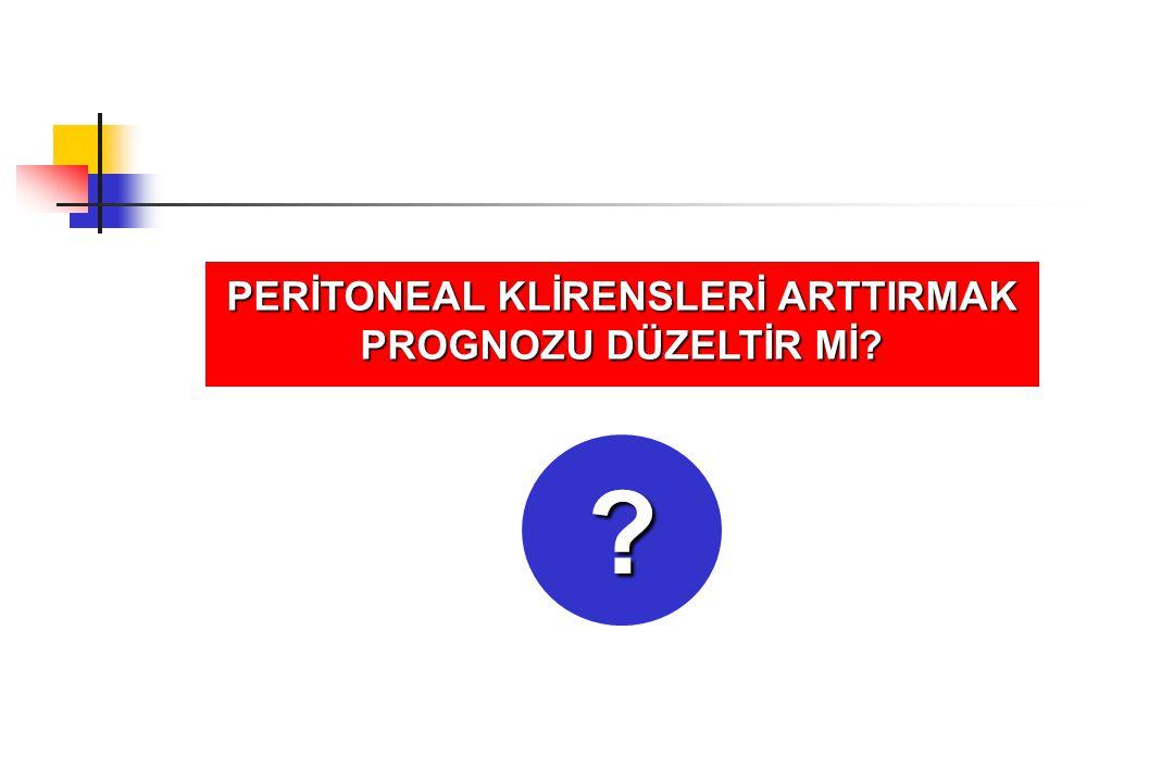 PERİTONEAL KLİRENSLERİ ARTTIRMAK