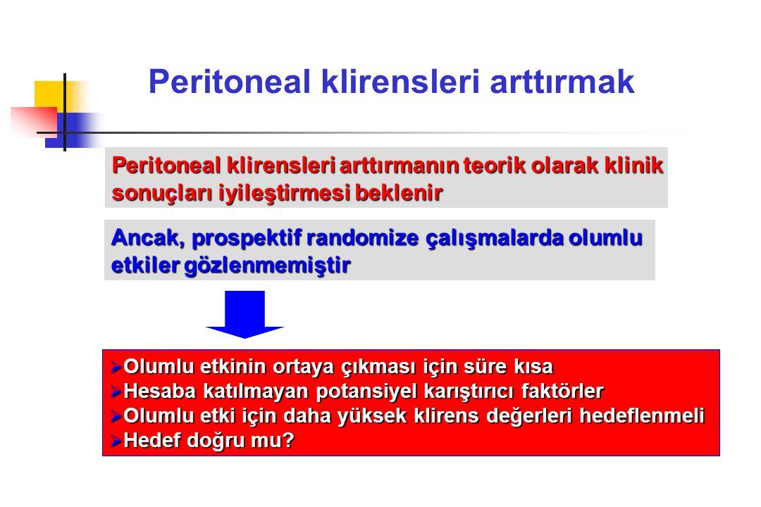Peritoneal klirensleri arttırmak
