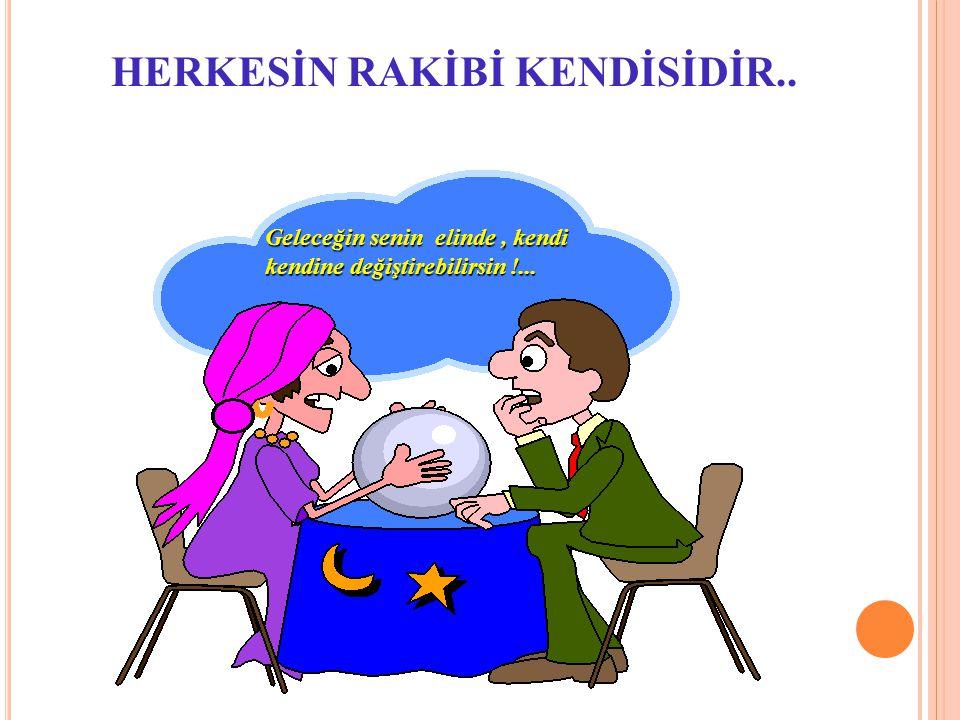 HERKESİN RAKİBİ KENDİSİDİR..