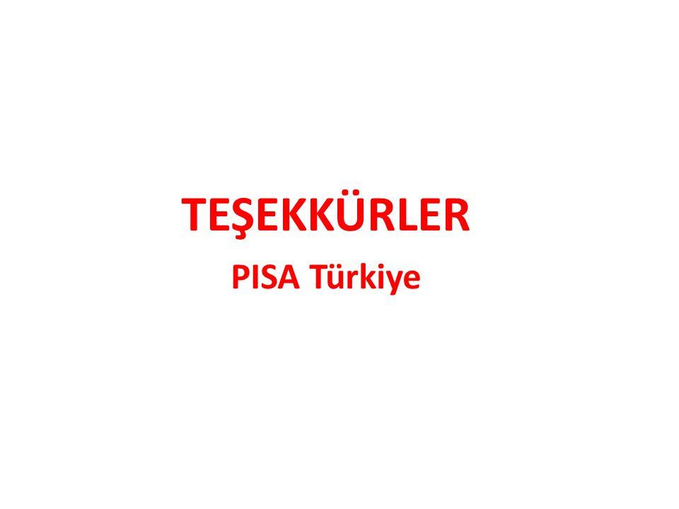 TEŞEKKÜRLER PISA Türkiye