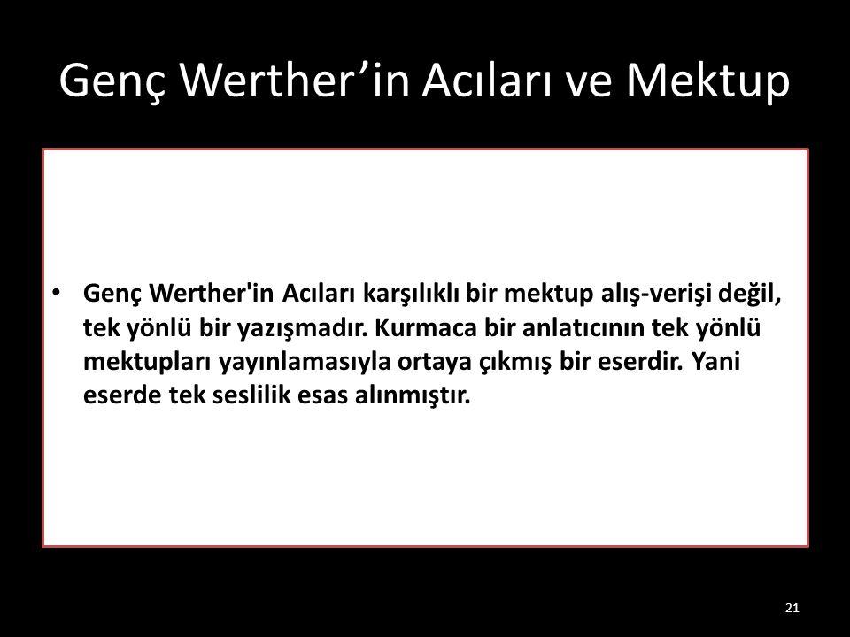Genç Werther'in Acıları ve Mektup