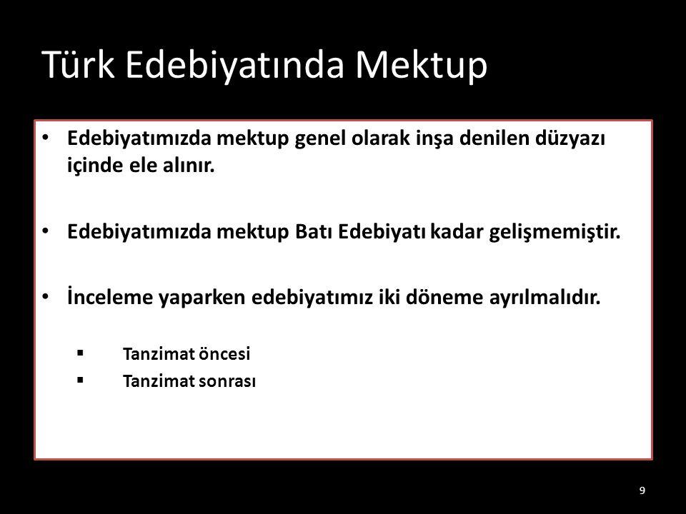 Türk Edebiyatında Mektup