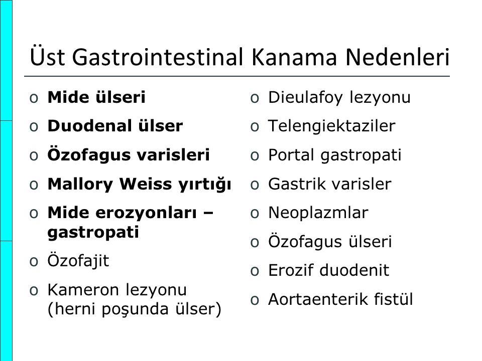 Üst Gastrointestinal Kanama Nedenleri