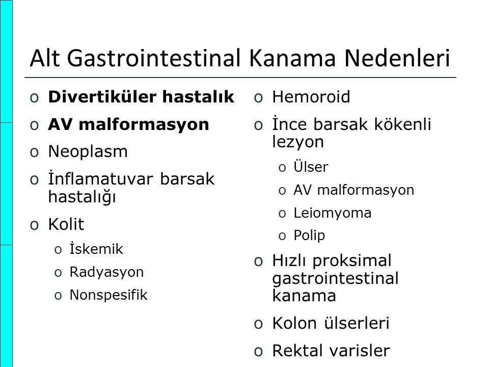 Alt Gastrointestinal Kanama Nedenleri