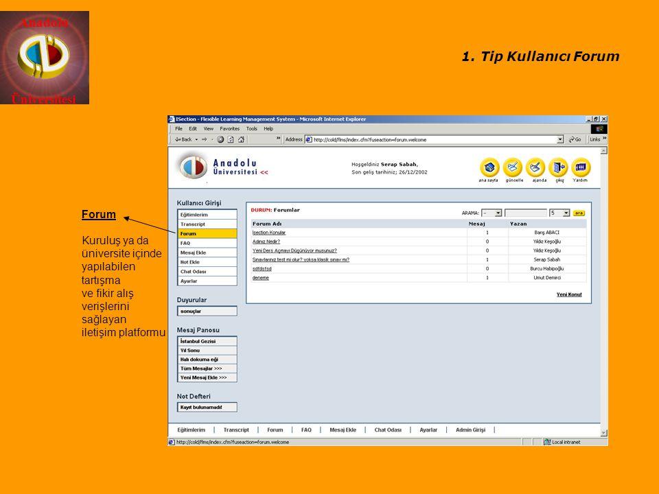 Tip Kullanıcı Forum Forum