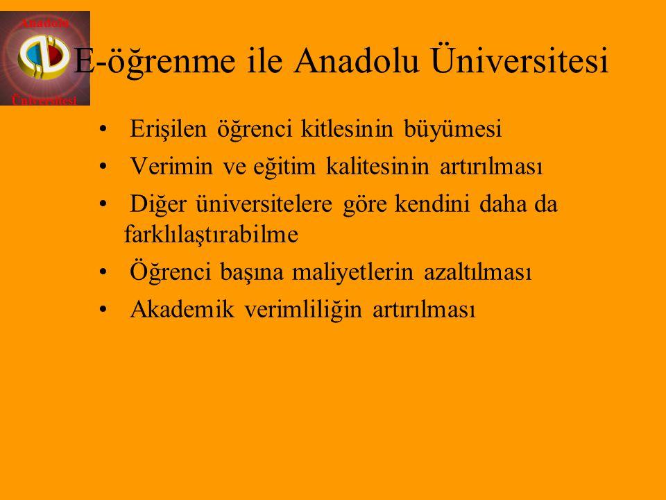 E-öğrenme ile Anadolu Üniversitesi