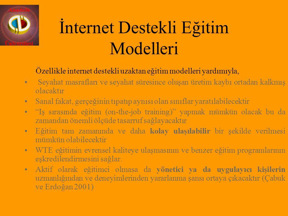 İnternet Destekli Eğitim Modelleri