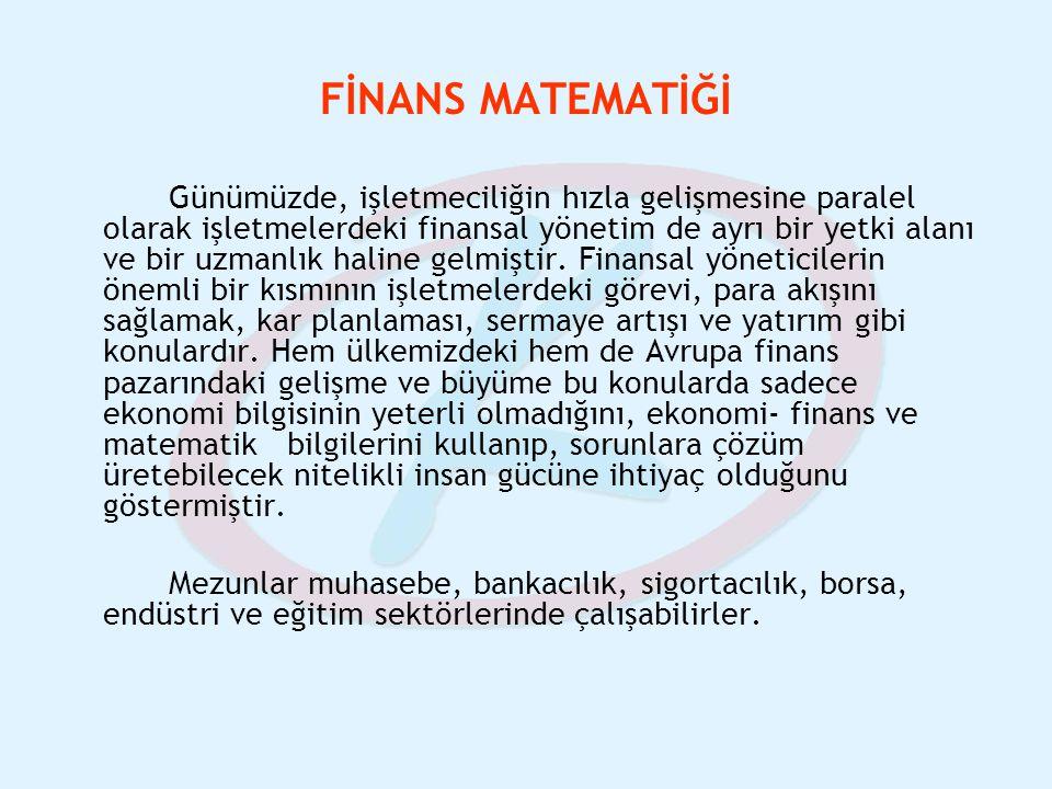 FİNANS MATEMATİĞİ