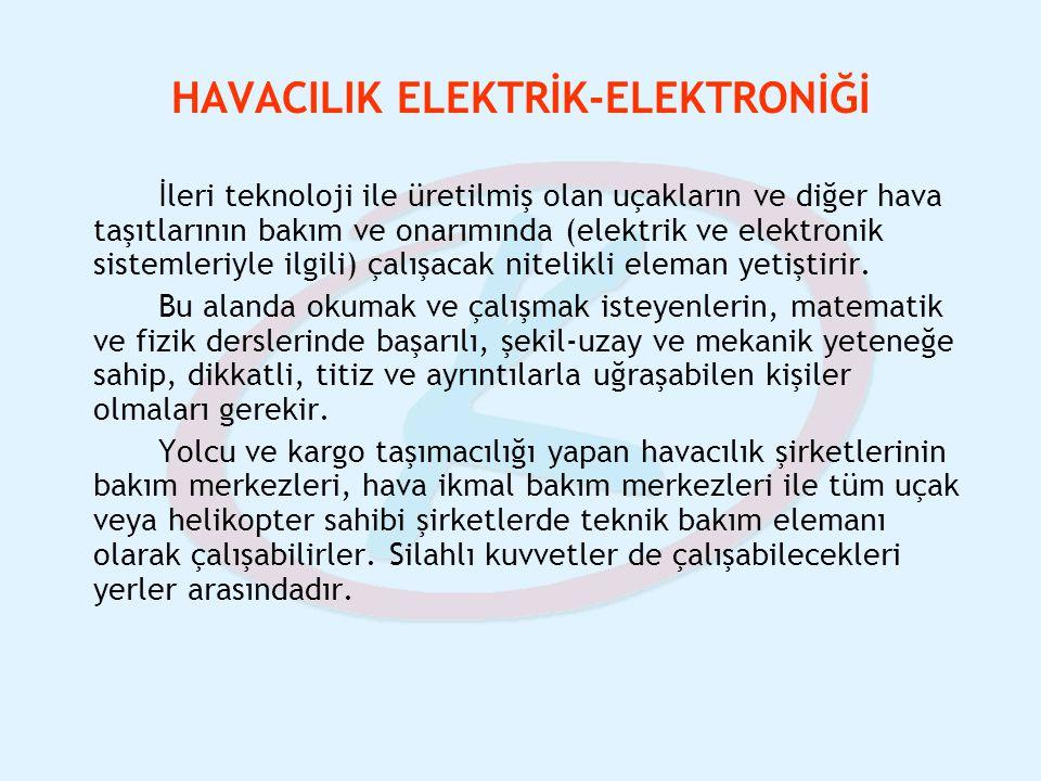 HAVACILIK ELEKTRİK-ELEKTRONİĞİ