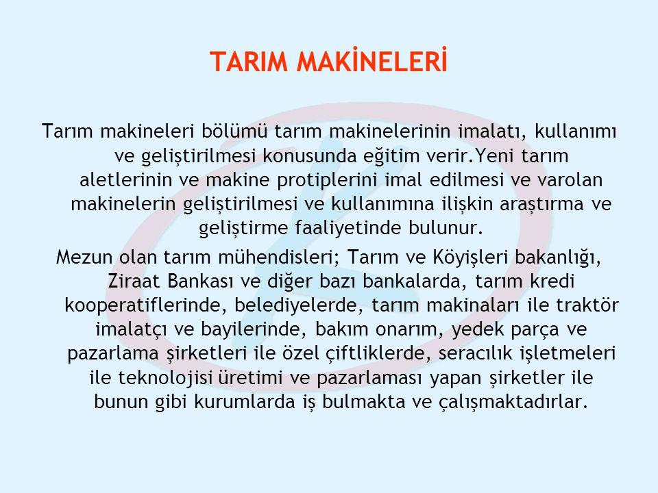 TARIM MAKİNELERİ