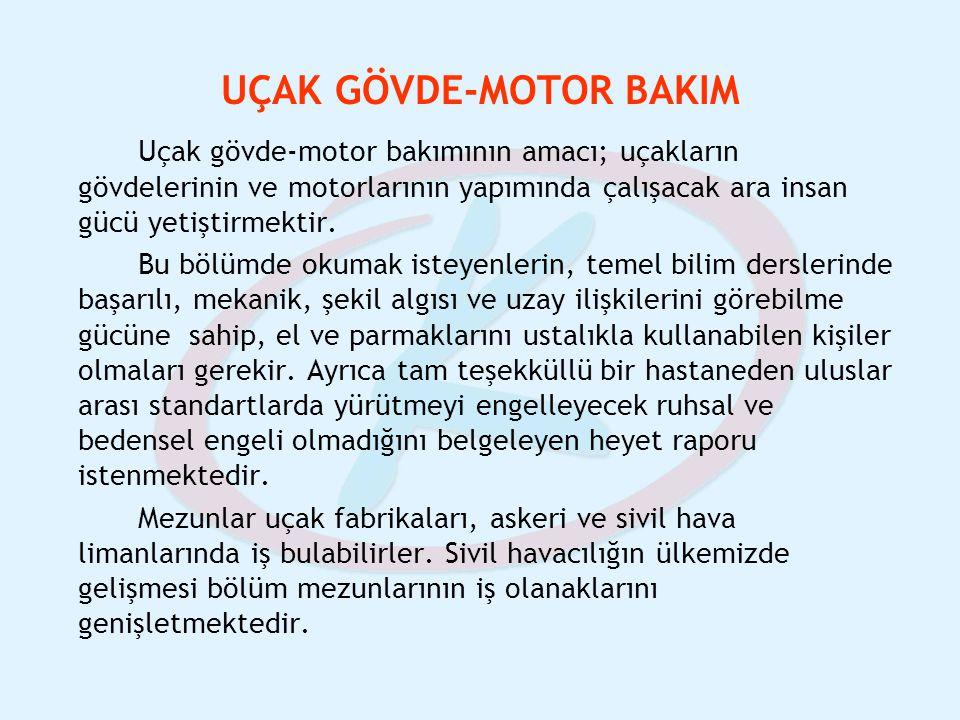 UÇAK GÖVDE-MOTOR BAKIM