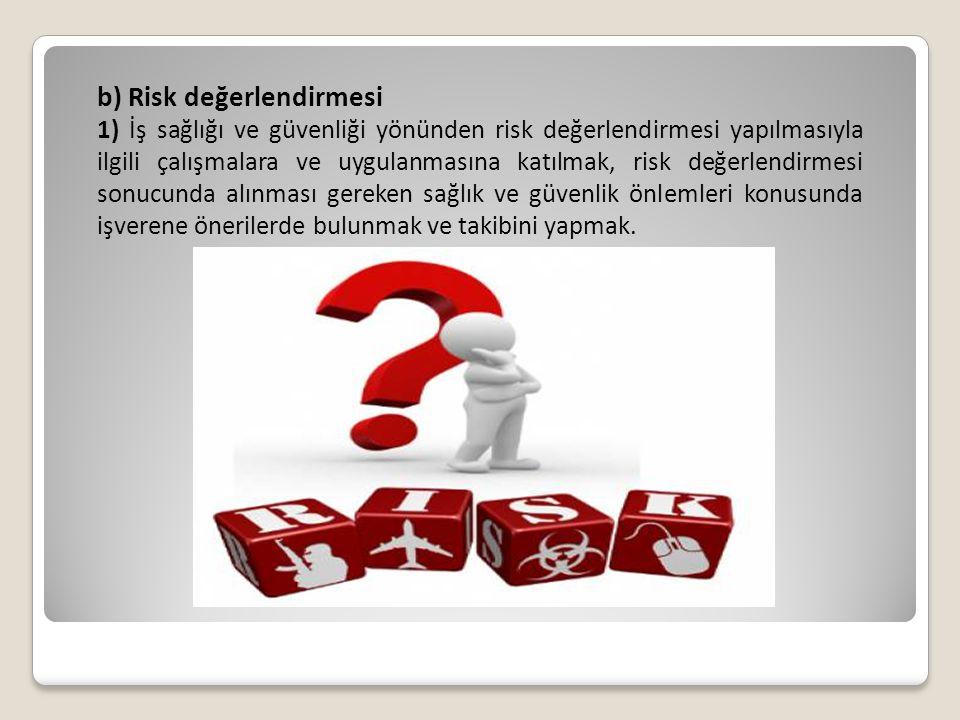 b) Risk değerlendirmesi