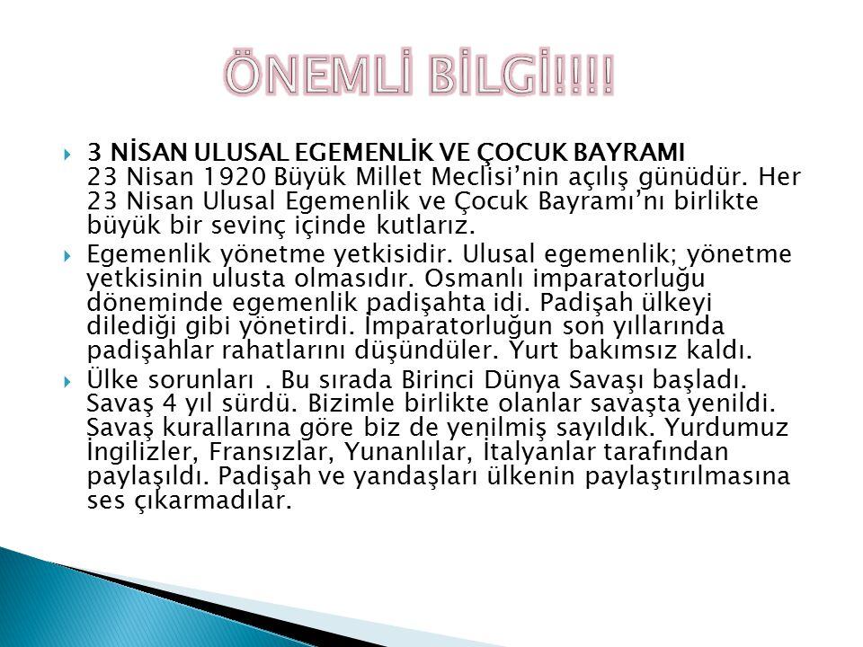 ÖNEMLİ BİLGİ!!!!