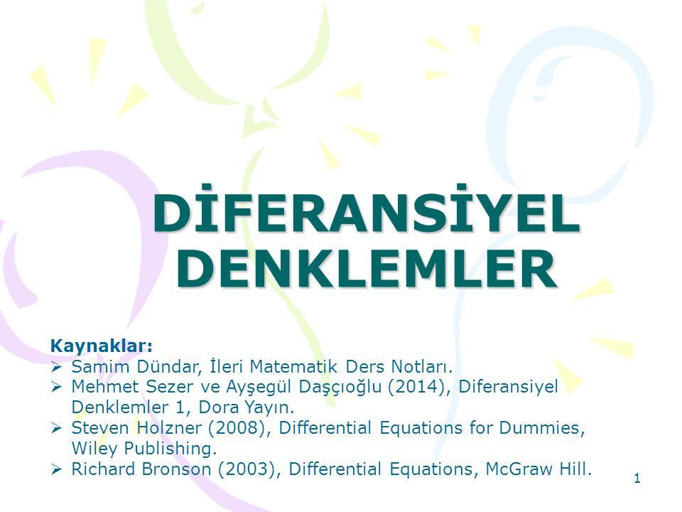 DİFERANSİYEL DENKLEMLER
