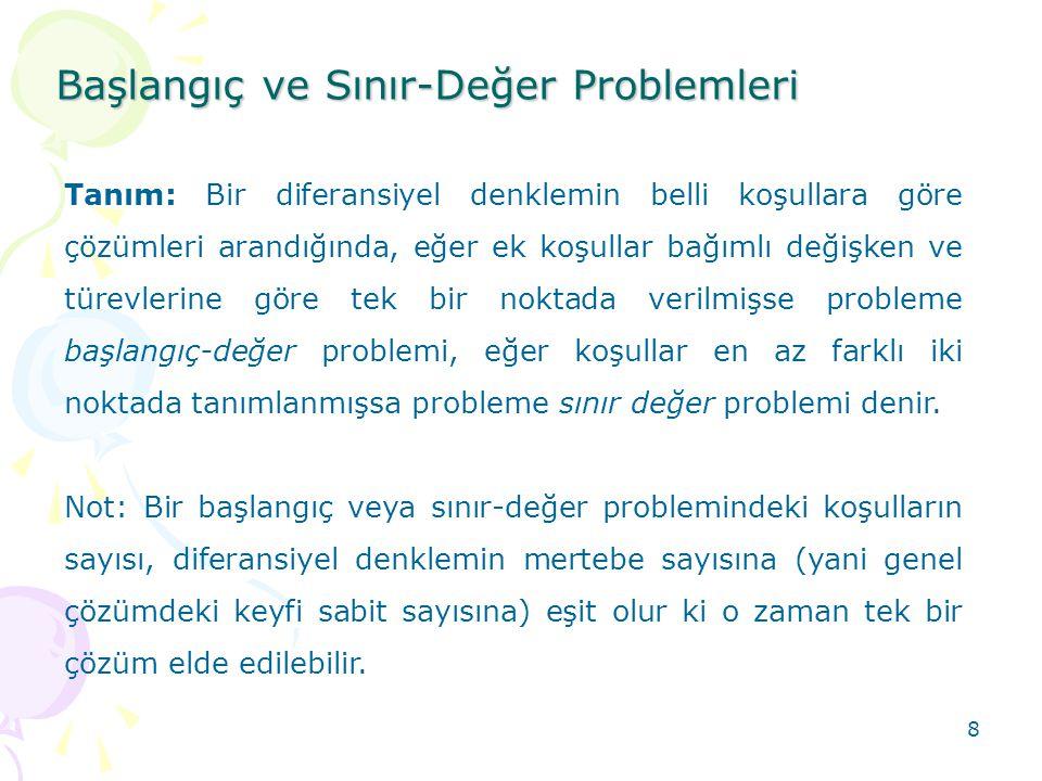 Başlangıç ve Sınır-Değer Problemleri
