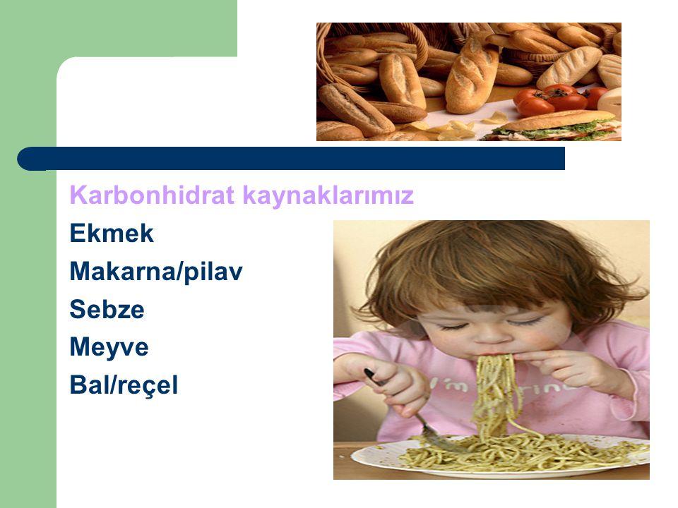 Karbonhidrat kaynaklarımız
