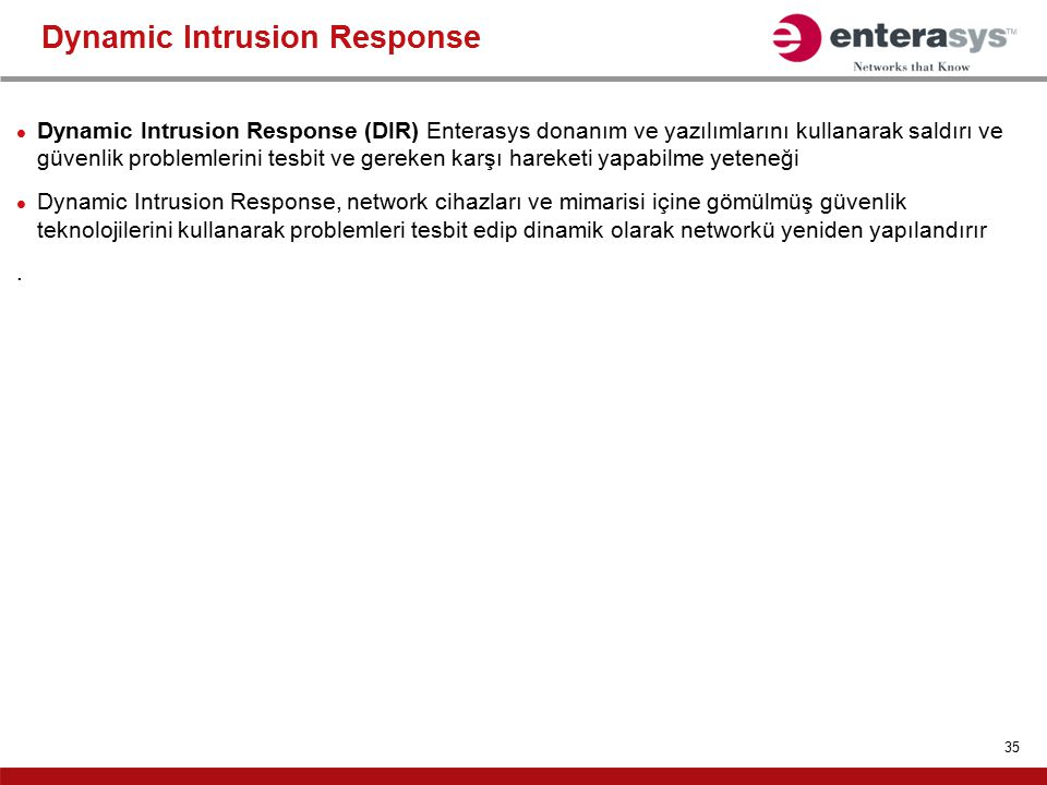 Dynamic Intrusion Response
