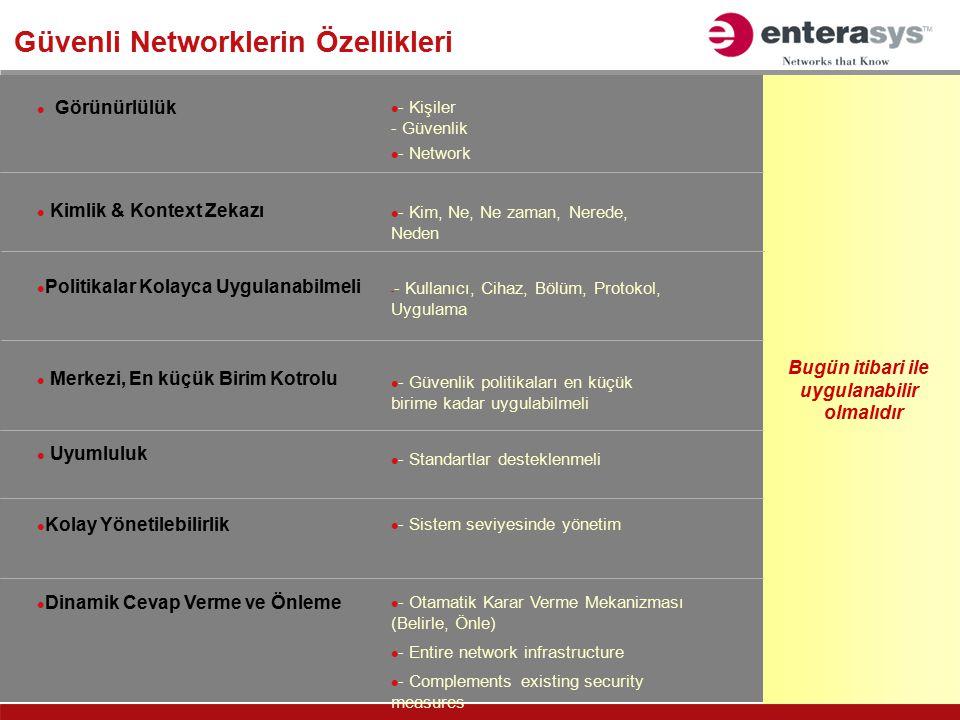 Güvenli Networklerin Özellikleri