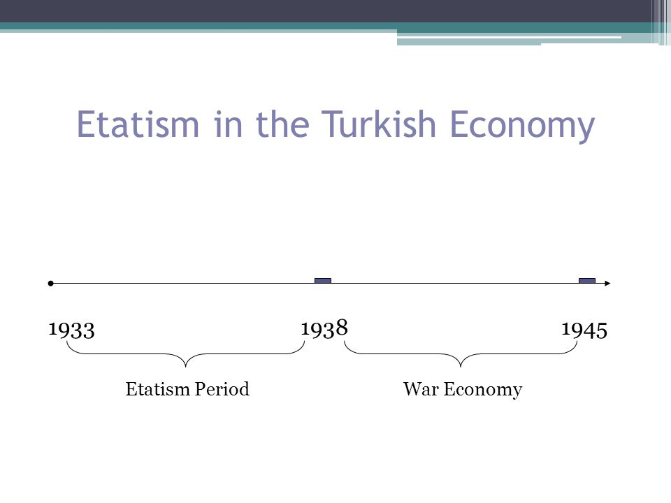 Etatism in the Turkish Economy