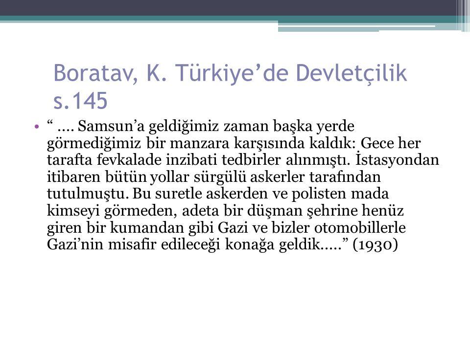 Boratav, K. Türkiye'de Devletçilik s.145