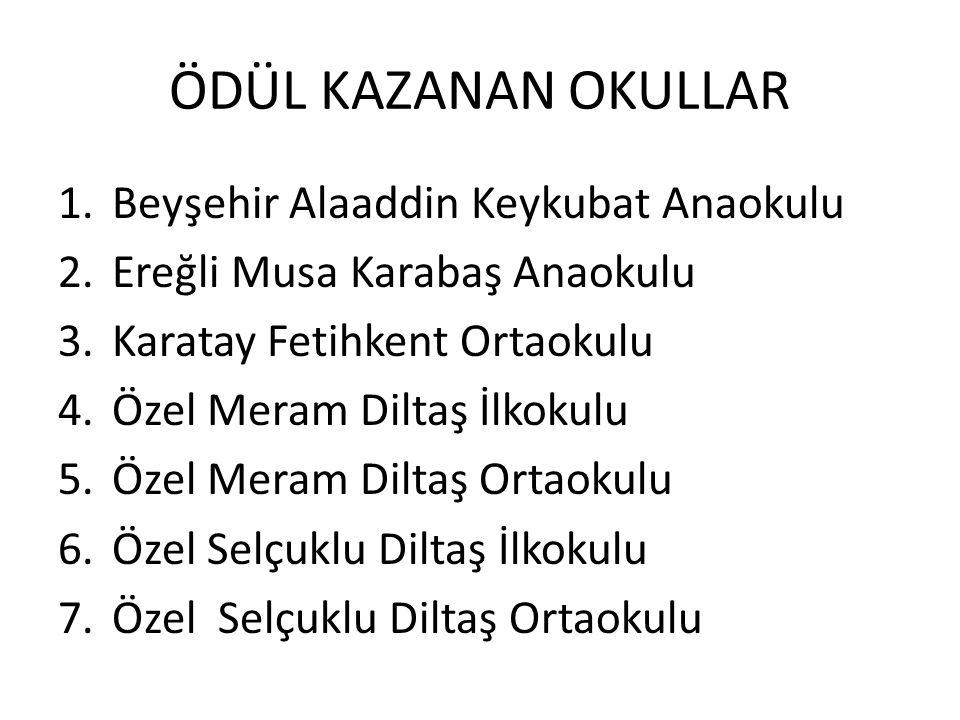 ÖDÜL KAZANAN OKULLAR Beyşehir Alaaddin Keykubat Anaokulu