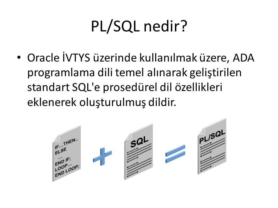 PL/SQL nedir