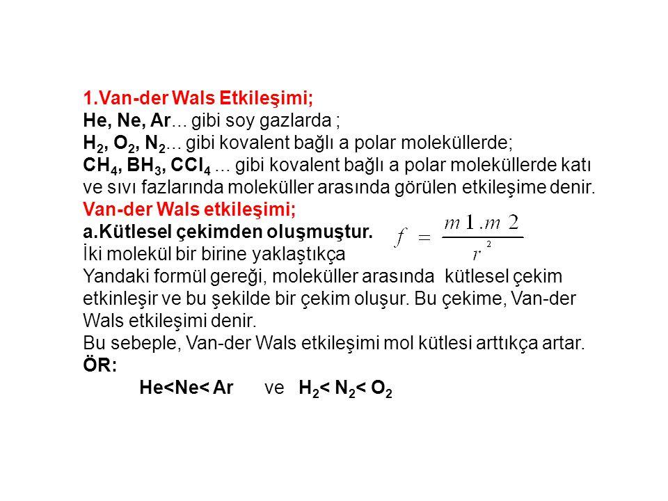 1.Van-der Wals Etkileşimi;