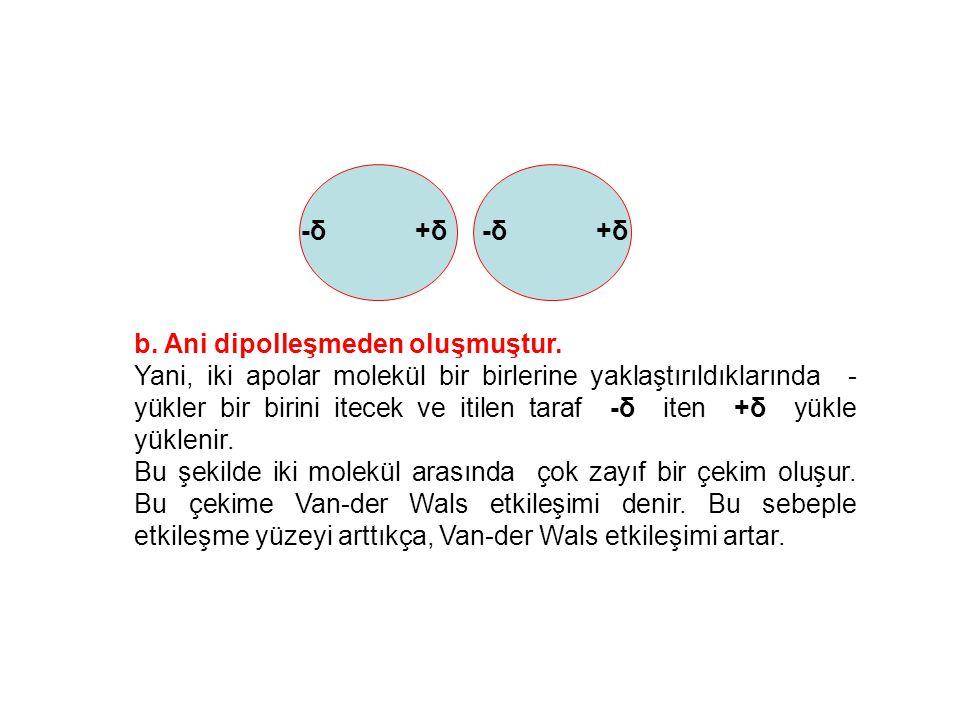 -δ +δ b. Ani dipolleşmeden oluşmuştur.